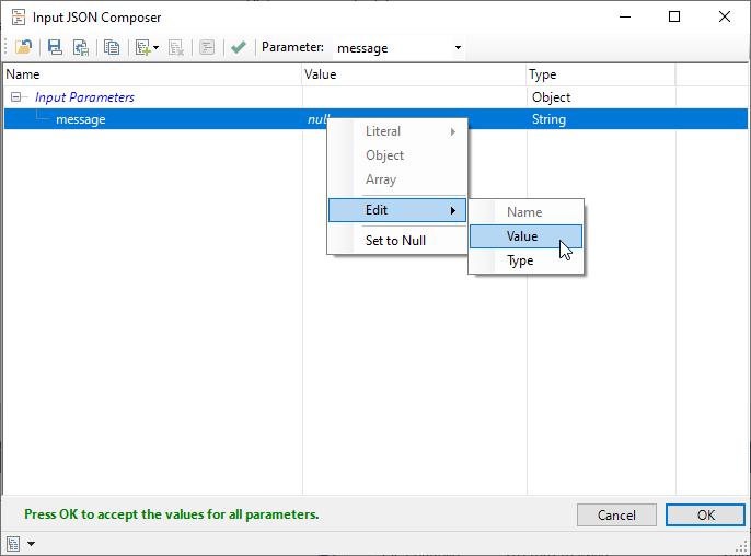 HL7 healthcare-Input an HL7 message in JSON Composer