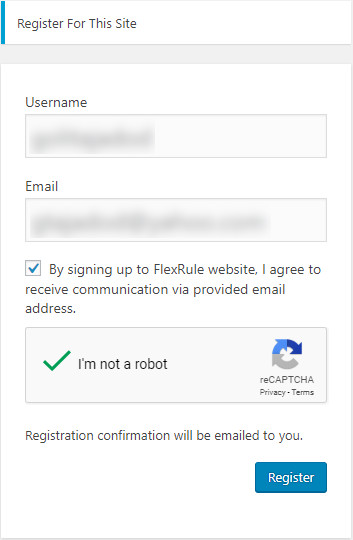 Register in FlexRule